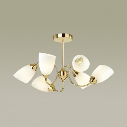 4532/6C COMFI LN21 049 золотой, белый Люстра потолочная E14 6*40W 220V DARLENE