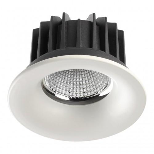 357604 NT18 090 белый Встраиваемый светильник IP44 LED 3000K 30W 100-265V DRUM