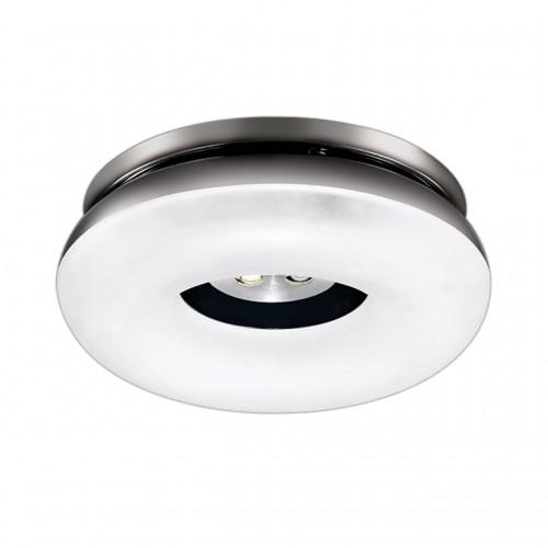 357161 NT15 140 хром Встраиваемый светильник IP20 LED 4000K 3W+5W 220V KUMO