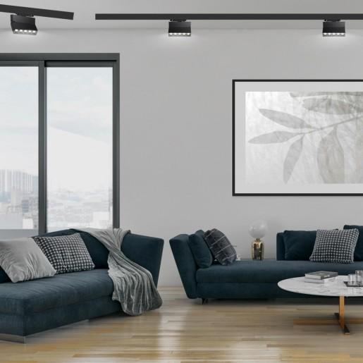 358326 NT19 000 черный Трехфазный трековый свтильник IP33 LED 4000К 25W 110-265V EOS