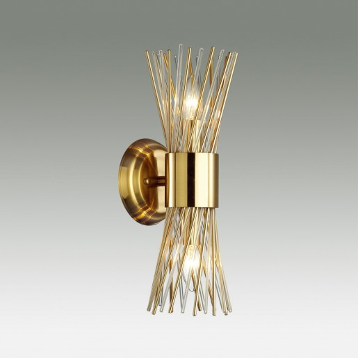 4839/2W HALL ODL21 337 золото/металл/стекло Бра E14 2*40W ORTA