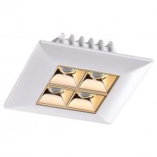357834 NT18 054 белый/золото Встраиваемый светильник IP33 LED 3000К 10W 110-265V ANTEY