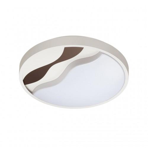 4499/72CL LN20 белый, коричневый Н/п светильник с пультом LED 2*36W 3000-6000K 2920Лм 220V NALU