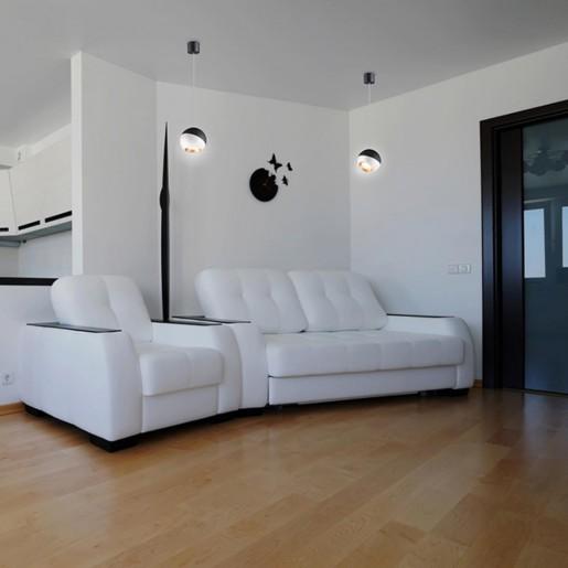 358155 NT19 024 черный/белый/золото Подвесной светильник IP20 LED 4000K 6W 220V BALL