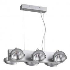 3494/60L ODL18 матовый серебристый Подвесной светильник IP20 LED 3000K 6*10W 4600Лм 220V FLABUNA