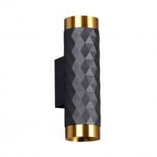 4287/2W HIGHTECH ODL22 213 черный/золотистый/металл Настенный светильник IP20 LED GU10 max 2*10W AD ASTRUM