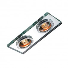 369765 NT12 131 алюминий/зеркальный Встраиваемый светильник IP20 GX5.3 2*50W 12V MIRROR