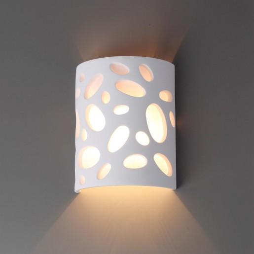 3549/1W ODL18 193 белый гипсовый Настенный светильник IP20 G9 1*40W 220V GIPS