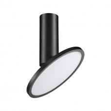 358346 OVER NT20 000 черный Светильник накладной IP20 LED 4000K 18W 85-265V HAT
