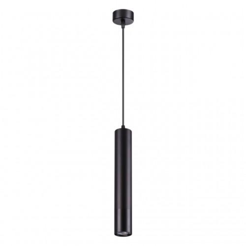 370622 NT19 102 черный Накладной светильник, длина провода 1м IP20 GU10 50W 220V PIPE