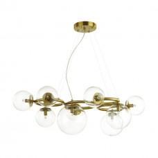 4276/9 MODERN ODL21 207 прозр/стекло/золотистый Подвесной светильник IP20 G9 9*40W NUVOLA