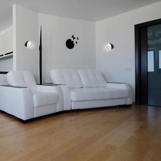 358156 NT19 024 черный/белый/золото Накладной светильник IP20 LED 4000K 6W 220V BALL