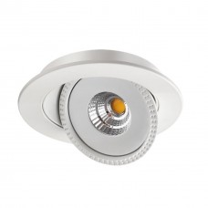 357576 NT18 080 белый Встраиваемый светильник IP20 LED 3000K 15W 85-265V GESSO
