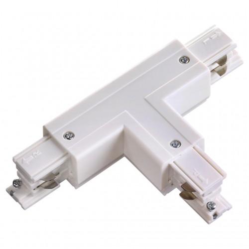 """135056 NT19 013 белый Соединитель """"T"""" левый внешний с токопроводом для трехфазного шинопровода IP20"""