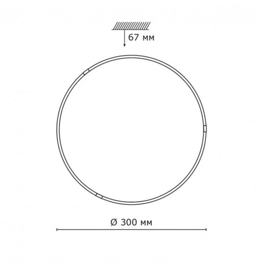 2067/BL SN 084 св-к OVI стекло LED 24Вт 3800K D300