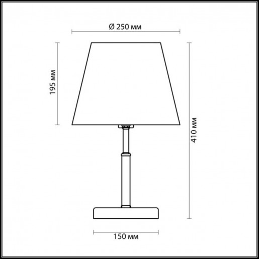 2998/1T LN16 194 бронзовый/декор. стекло/ткань Настольная лампа E14 40W 220V PLACIDA