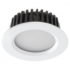 357907 NT19 090 белый Встраиваемый светильник IP44 LED 4000K 10W 100-265V DRUM