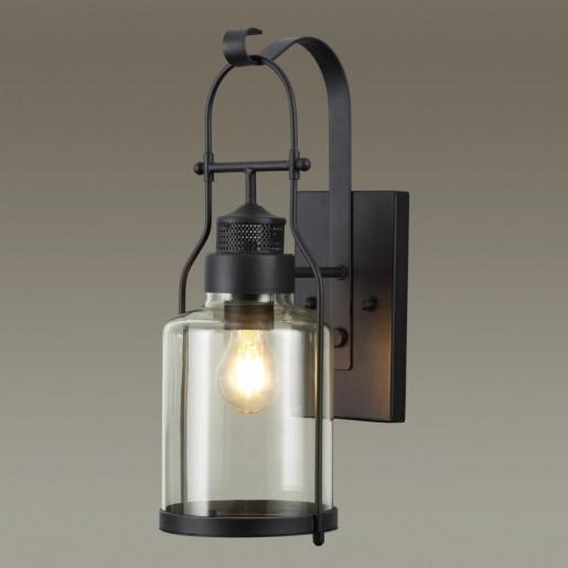 4835/1W NATURE ODL21 569 черный/стекло Ландшафтный настенный светильник E27 1*60W IP44 KALPI