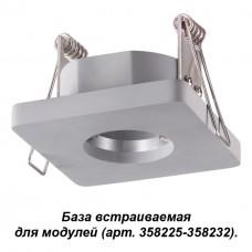 358218 NT19 036 серый База встраиваемая для модулей с 358225-358232 IP20 OKO