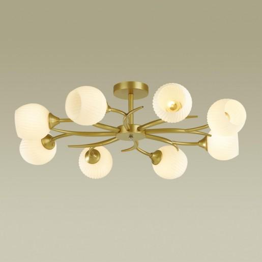 4545/8C COMFI LN21 051 матовое золото, белый Люстра потолочная E27 8*60W 220V GISELLE