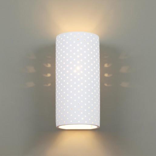4277/1W HIGHTECH ODL21 150 белый гипсовый Настенный светильник IP20 E14 1*40W 220V GIPS