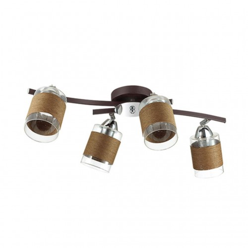3030/4CA LN16 171 хром/кофе/стекло/декор.тесьма Люстра потолочная E27 4*60W 220V FILLA