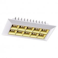 357836 NT18 054 белый/золото Встраиваемый светильник IP33 LED 3000К 25W 110-265V ANTEY