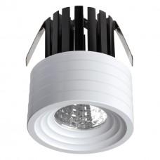 357699 NT18 090 белый Встраиваемый светильник IP20 LED 3000K 3W 160-265V DOT