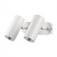357462 NT18 074 матовый белый Накладной светильник IP20 LED 3000K 2*7W 100-240V TUBO
