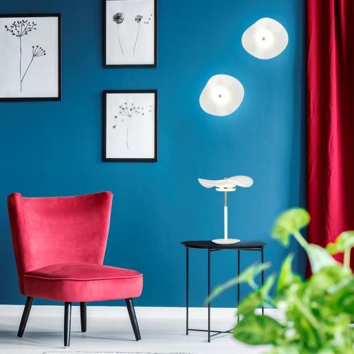 4856/10TL L-VISION ODL_EX21 никель/белый/стекло Настольная лампа LED 1*13W 4000K FLUENT