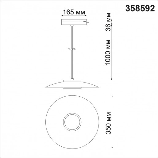 358592 PORT NT21 000 черный/золото Однофазный трековый светодиодный светильник, провод 1м IP20 LED 4000K 18W 220-240V PILZ