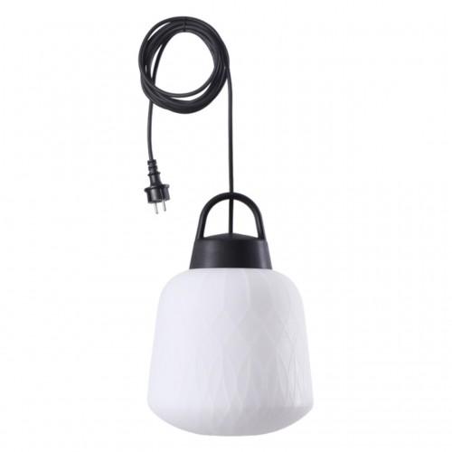 370644 NT19 000 белый абажур/черная арматура Подвесной светильник IP44 Е27 60W 220-240V CONTE