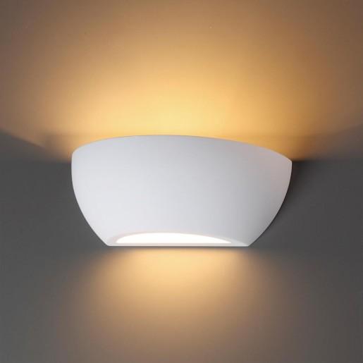 3551/1W ODL18 193 белый гипсовый Настенный светильник IP20 E14 1*40W 220V GIPS