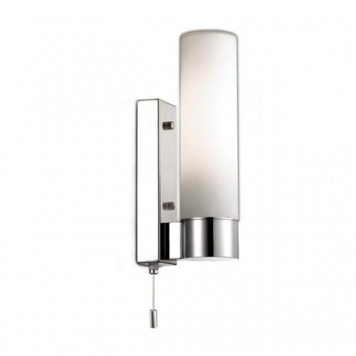 2660/1W ODL14 655 хром/белый Настенный светильник с выкл IP44 E27 60W 220V TINGO