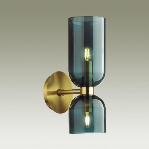 4803/2W MIDCENT ODL21 291 бронзовый/синий Бра с выкл. E14 2*60W ORINOCO