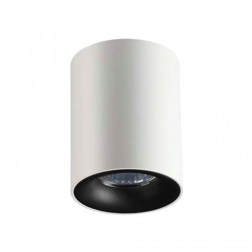 3569/1C ODL18 186 белый с черным Потолочный накладной светильник GU10 1*50W 220V TUBORINO