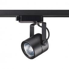 370427 NT19 100 черный Трековый светильник IP20 GU10 50W 220V PIPE