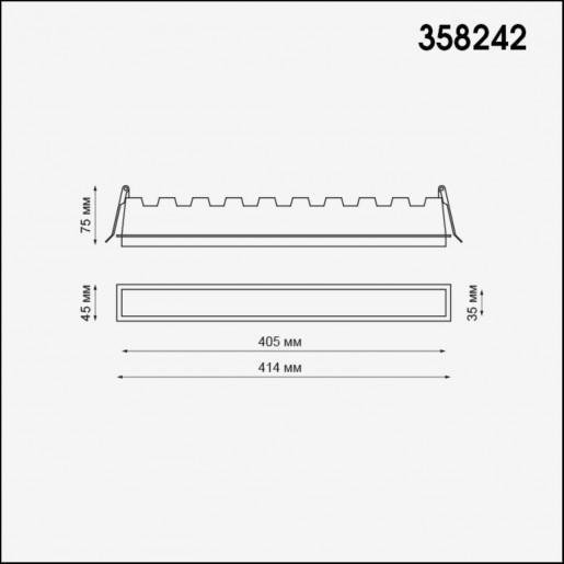 358242 NT19 083 белый Встраиваемый светильник IP20 LED 30W 85-265V HIELO