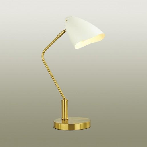4540/1T MODERNI LN21 137 латунь, белый Настольная лампа E14 40W 220V MADISON