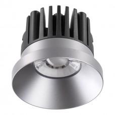 357587 NT18 088 серебро Встраиваемый светильник IP44 LED 3000K 10W 100-265V METIS