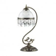 2989/1T LN16 243 бронзовый/стекло/хрусталь Настольная лампа E27 60W 220V AVIFA