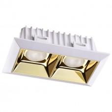 357847 NT18 054 белый/золото Встраиваемый светильник IP33 LED 3000К 14W 110-265V ANTEY