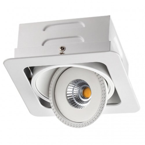 357577 NT18 081 белый Встраиваемый светильник IP20 LED 3000K 7W 85-265V GESSO