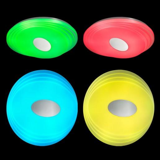3027/EL SN 022 св-к SEKA пластик LED 72Вт+12Вт RGB 3000-6500K D485 IP43 пульт ДУ