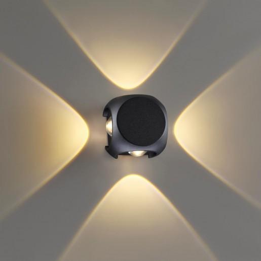 4222/8WL HIGHTECH ODL21 черн/металл Настенный светильник IP54 LED 8W 716Лм 3200K MIKO