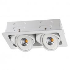 357578 NT18 081 белый Встраиваемый светильник IP20 LED 3000K 2*7W 85-265V GESSO