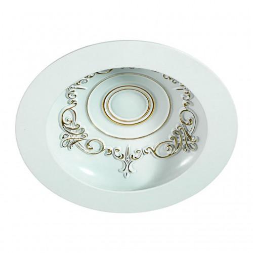 357357 NT17 141 белый/золото Встраиваемый светильник IP20 LED 7W 85-265V GESSO