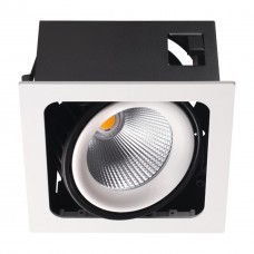 358037 NT19 082 белый/черный Встраиваемый карданный светильник IP20 LED 3000К 32W 220V GESSO