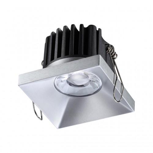 358483 SPOT NT21 000 серебро Светильник встраиваемый IP44 LED 3000K 10W 100-265V METIS