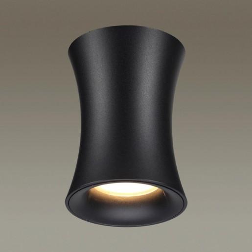 4272/1C HIGHTECH ODL21 103 черный/металл Потолочный светильник IP44 GU10 1*50W ZETTA